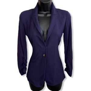 Theory Eggplant Soft Relaxed Button Blazer